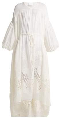 Binetti Love Guipure Lace Cotton Dress - Womens - White