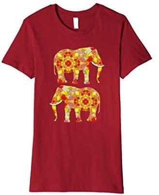 Indian Elephant Ornately Decorated Animal Graphic T-Shirt