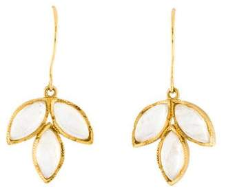 Irene Neuwirth 18K Moonstone Triple-Marquise Drop Earrings
