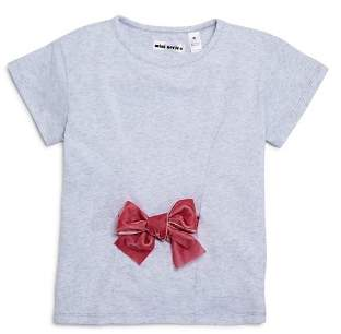 Mini Series Girls' Velvet-Bow Tee, Little Kid - 100% Exclusive
