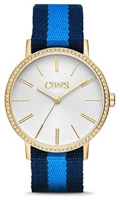 Chaps Whitneyネイビー&ブルーグログランandゴールド調時計