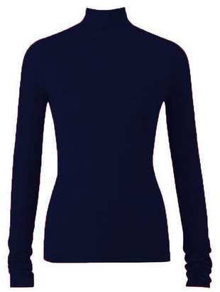 Amanda Wakeley Portman Midnight Cashmere High Neck Top