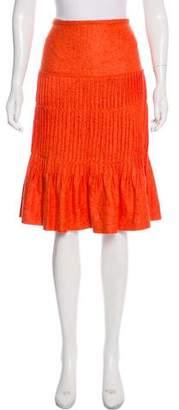Oscar de la Renta Cashmere & Silk-Blend Knee-Length Skirt