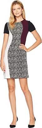 Taylor Dresses Women's Plus Size Mixed Print Shift Dress