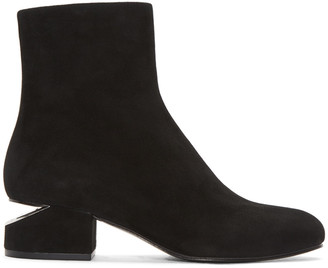 Alexander Wang Black Suede Kelly Boots $650 thestylecure.com