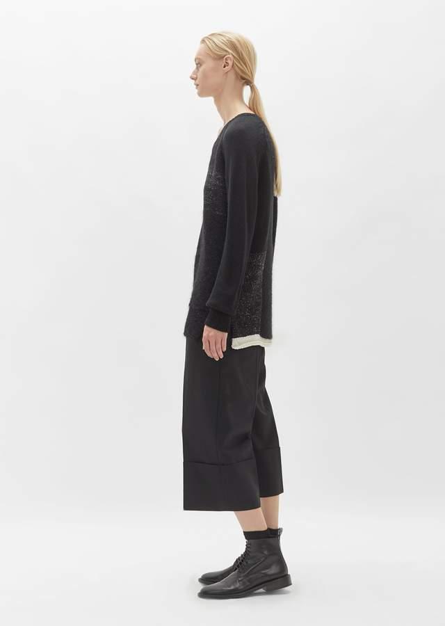 Yohji Yamamoto Wool Patchwork Sweater Black