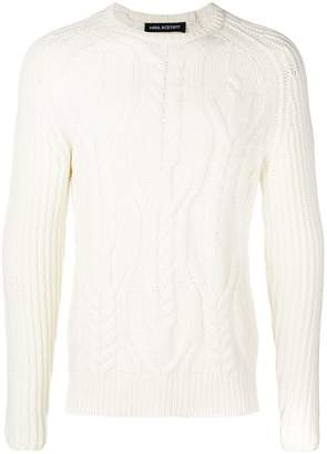 Neil Barrett cable-knit jumper