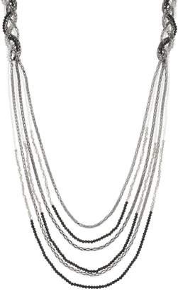 Vera Wang Simply Vera Two Tone Beaded Multi Strand Long Necklace