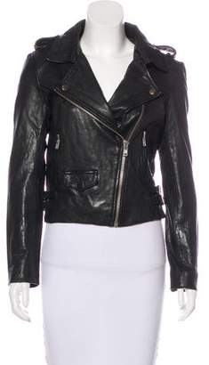 Linea Pelle Leather Moto Jacket w/ Tags