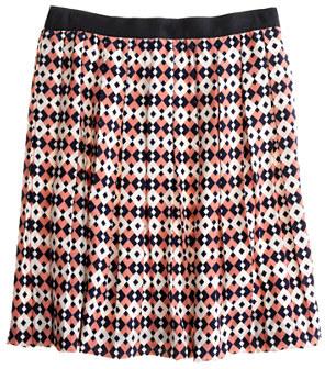 J.Crew Silk diamond tile skirt