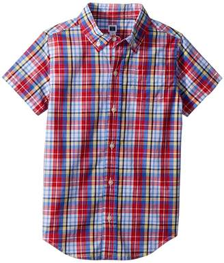 Janie and Jack Short Sleeve Button Up Shirt Boy's Clothing