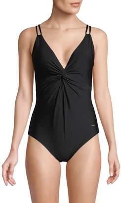Calvin Klein Siren Twist-Front One-Piece Swimsuit