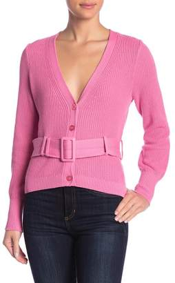 Free Press Belted V-Neck Cardigan