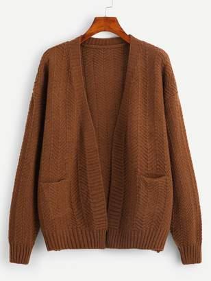 Shein Pocket Front Cardigan