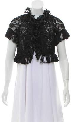 Oscar de la Renta Embroidered Open-Front Evening Jacket w/ Tags