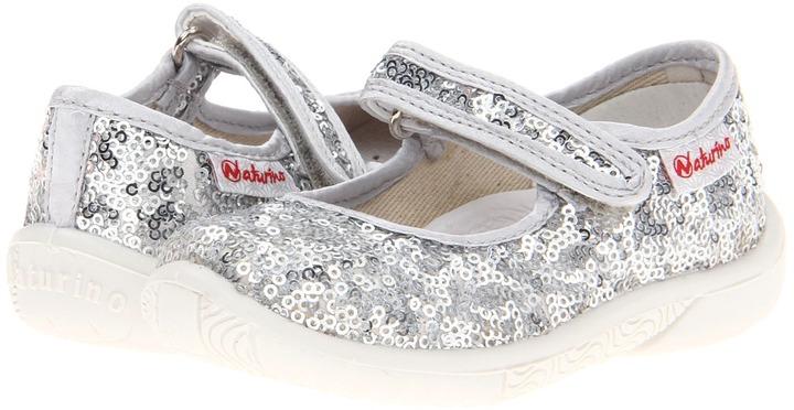 Naturino Nat. 7703 ST13 (Toddler/Little Kid) (Silver Paillettes) - Footwear
