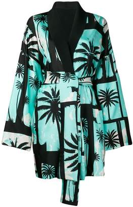 Fausto Puglisi palm tree kimono coat