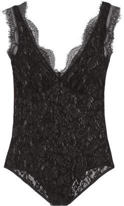 Earlinna Layered Lace Bodysuit - Black