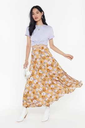0280119f5d89fe Nasty Gal Floral Split Maxi Skirt
