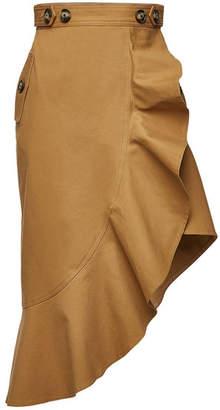 Self-Portrait Asymmetric Cotton Skirt