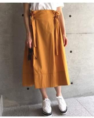 aquagirl (アクアガール) - アクアガール [洗える]サイドギャザーミディ丈スカート