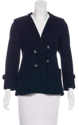 Chanel Knit Notched-Lapel Blazer