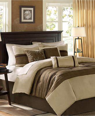 Madison Park Palmer Microsuede 7-Pc. Queen Comforter Set Bedding