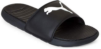 Puma Black & White Cool Cat Slide Sandals
