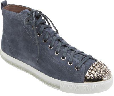 Miu Miu Studded Cap Toe Sneaker