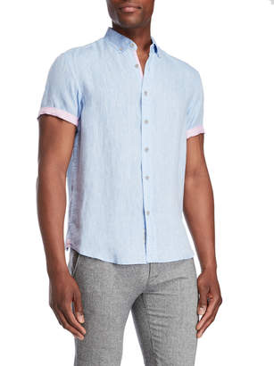 Report Collection Heritage Linen Button-Down Shirt