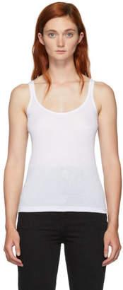 Skin White Ribbed Tank Top