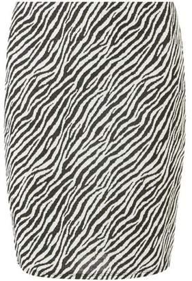 Dorothy Perkins Womens Black Zebra Print Mini Skirt