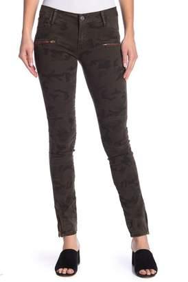 Etienne Marcel Camouflage Zip Skinny Jeans