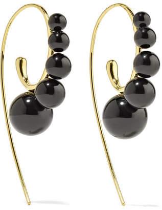 Ippolita Nova 18-karat Gold Onyx Earrings