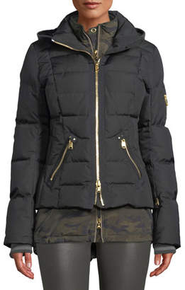 Bogner Dina Four-Piece Puffer Coat w/ Detachable Hood & Fur
