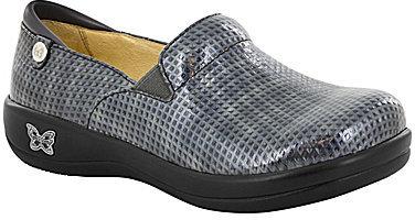 AlegriaAlegria Keli Perforated Metallic Leather Slip On Clogs