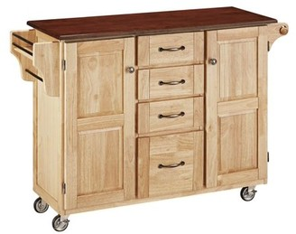 Home Styles Create-a-Kitchen Cart, Natural with Cherry Top
