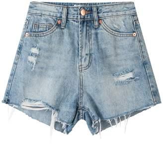 Goodnight Macaroon 'Lydia' Distressed Denim Shorts