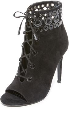 KENDALL + KYLIE Giada Peep Toe Booties $199 thestylecure.com