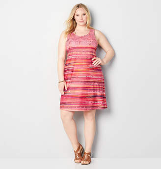 Avenue Crochet Overlay Abstract Sheath Dress