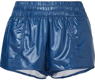 adidas by Stella McCartney Run 2-in-1 Mesh-trimmed Glossed-shell Shorts - Blue
