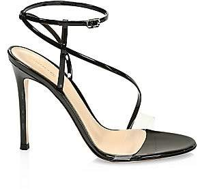 Gianvito Rossi Women's Strappy Patent Leather Stiletto Sandals