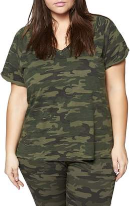 Sanctuary Camo V-Neck Cotton Tee