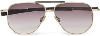 Coleman Max Pittion Aviator-Style Gold-Tone And Acetate Sunglasses