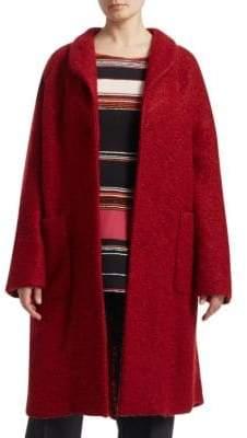 Marina Rinaldi Marina Rinaldi, Plus Size Boucle Wool Cocoon Coat
