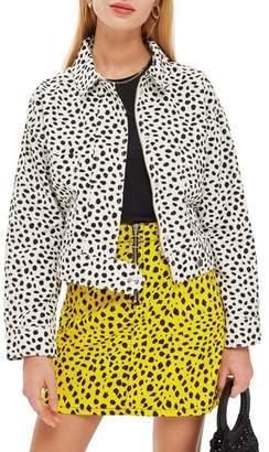 Topshop Animal Print Jacket