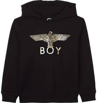 Boy London Foil eagle cotton hoody 3-12 years