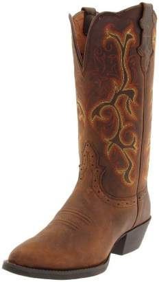 "Justin Boots Women's Stampede Collection 12"" Boot Narrow Rounded Toe Western Rubber Outsole"