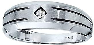 Men's 10k Gold Diamond Wedding Band