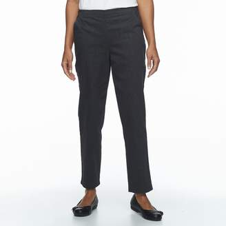 Croft & Barrow Petite Straight-Leg Twill Pants